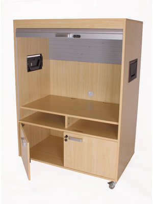 Mueble bajo con persiana de TV y video